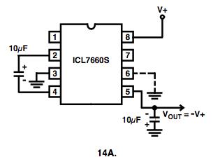 Fabrication d'un convertisseur de tension -5V pour moins de 3 euros. 7660