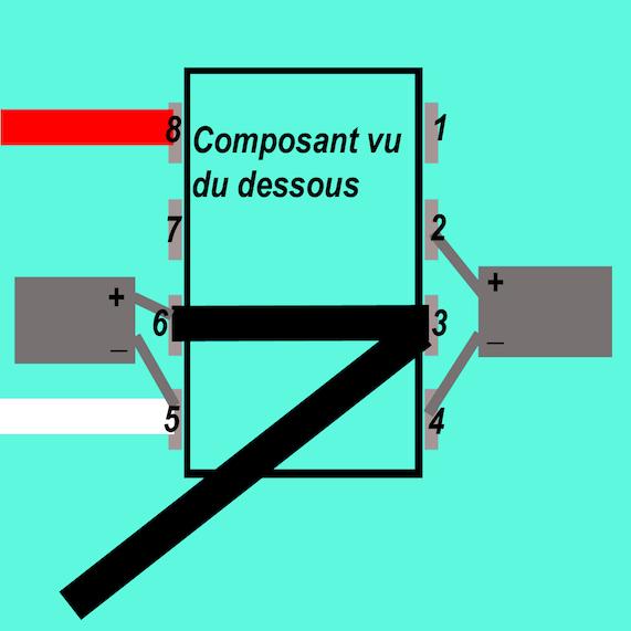 Fabrication d'un convertisseur de tension -5V pour moins de 3 euros. Icl7660-5v